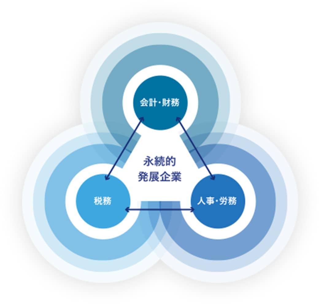 永続的発展起業:会計・財務/人事・労務/税務