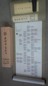 「木村家はじめ六家の家系図、ようやく完成」<370>