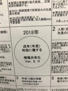 「マンダラシート発表 2018」
